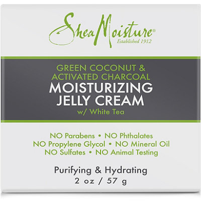 Green Coconut & Activated Charcoal Moistuizing Jelly Cream