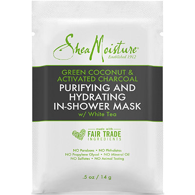 Travel Size Green Coconut & Activated Charcoal In-Shower Mask