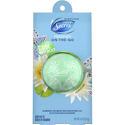 Freshies On-The-Go Cool Water Lily Invisible Solid Anitpersperant Ball