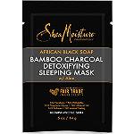 SheaMoisture Travel Size African Black Soap & Bamboo Charcoal Detoxifying Sleep Mask