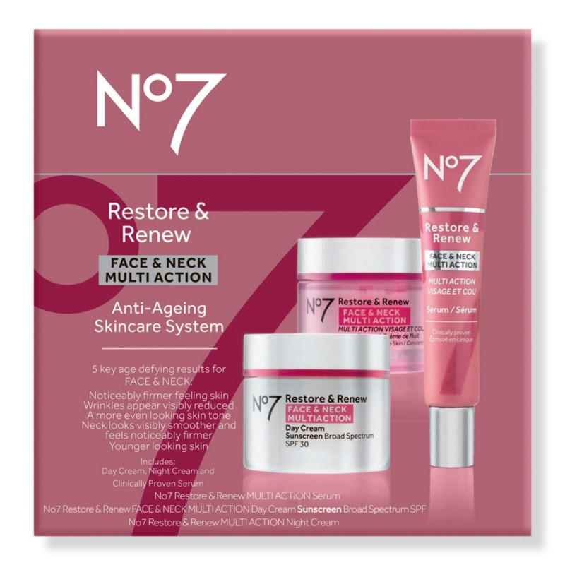 Restore & Renew Face & Neck Multi Action Anti-Aging Skincare System