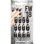 China Glaze Nail Tips FW'18 Black Matte with Gold Foil