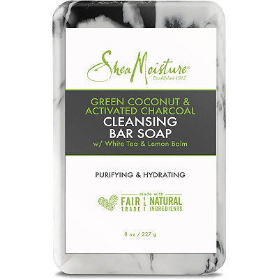 Green Coconut & Activated Charcoal Cleansing Bar Soap