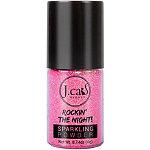 J.Cat Beauty Online Only Rockin' The Night Sparkling Powder Ultra Pink (hot pink sparkle)