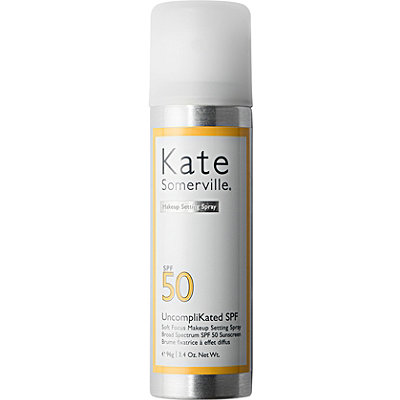 UncompliKated SPF Soft Focus Makeup Setting Spray Broad Spectrum SPF 50 Sunscreen