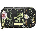 Perennial Blooms Double Zip Organizer with Embroidered Flowers