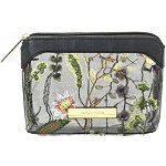 Perennial Blooms Small Purse Kit Makeup Bag with Embroidered Flowers