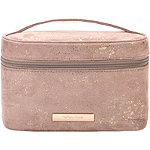 Golden Shimmer Travel Train Case Set with Removable Pencil Case