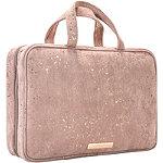 Golden Shimmer Travel Weekender Makeup Organizer Bag