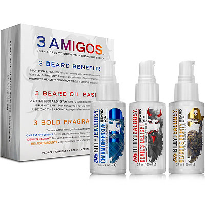 Three Amigos Beard Oil Trio Set