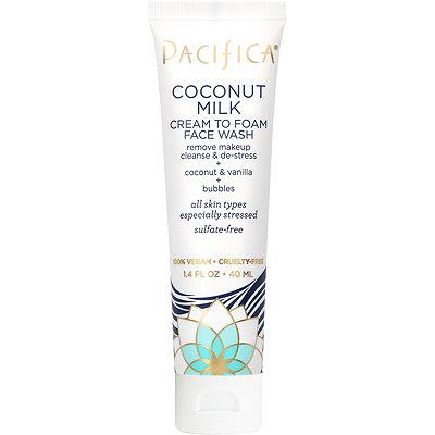 Travel Size Coconut Milk Cream To Foam Face Wash