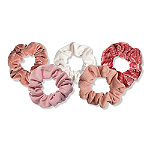 Kitsch Blush/Mauve Velvet Scrunchies 5 Pc