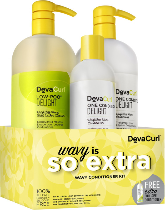 Online Only Wavy Is So Extra Wavy Hair Conditioner Kit by Deva Curl