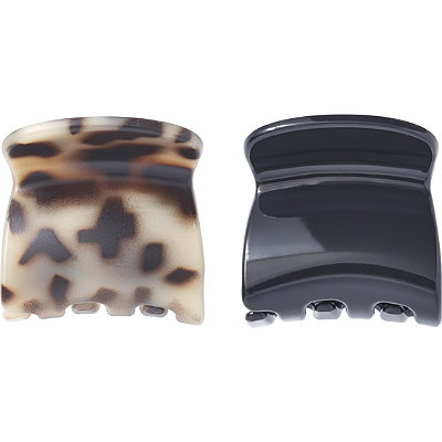Black and Tortoise Jaw Clip Duo