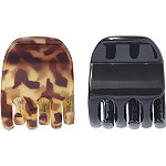 Scünci Tortoise and Black Mini Claw Clips 2 Ct