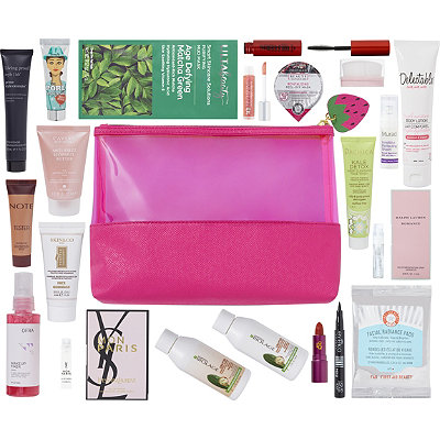 FREE 21 Pc Strawberry Beauty Bag with any $75 online purchase