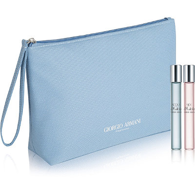 Online Only! FREE 3 Pc Gift w/any large spray Giorgio Armani Acqua di Gioia fragrance collection purchase