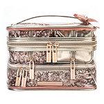 Rose Gold Sequins 4 Pc Train Case Set