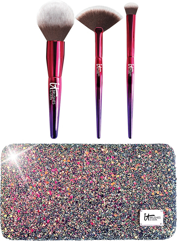 Image result for your rockstar brushes limited edition 3 pc brush set + glitter clutch