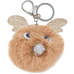 Reindeer Pom Keychain