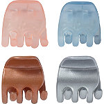 Riviera Multi-Color No Slip Mini Claws 4 Pc
