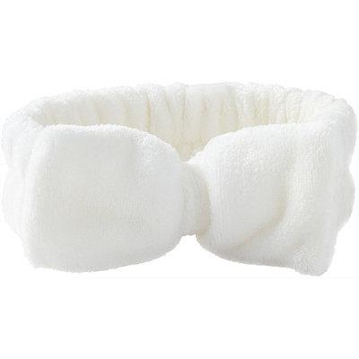 Plush Bow Headwrap-White