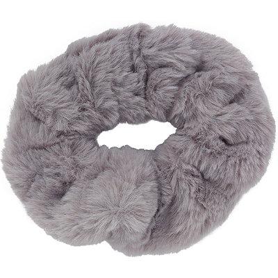 Grey Large Faux Fur Twister