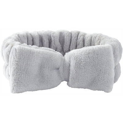 Plush Bow Headwrap-Grey