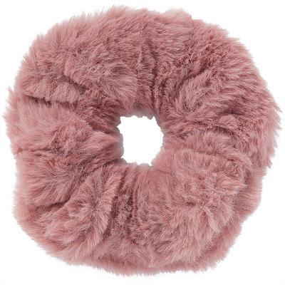 Large Faux Fur Twister-Pink