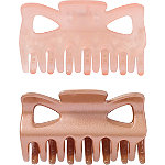 No Slip Claw Clips In Pink/Gold 2 Pc