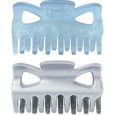 No Slip Claw Clips in Blue/Silver 2 Pc