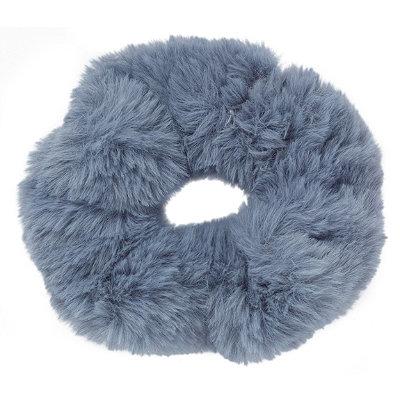 Large Faux Fur Twister-Dark Grey