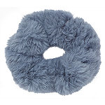 Large Faux Fur Twister-Dark Grey