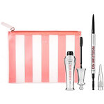 Benefit Cosmetics Online Only Brows Come NATURALLY! ''Full-Sized Eyebrow Set'' Shade 6 (cool soft black)