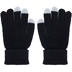 Capelli New York Black Textured Gloves