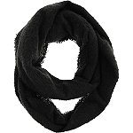 Capelli New York Black Solid Loop Scarf
