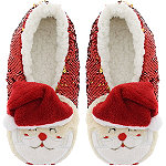Sequin Santa Slipper Socks S/M