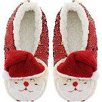 Sequin Santa Slipper Socks M/L