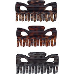 Riviera Cutout Claw Clips 3 Pc