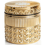 Online Only Exotic Blossom & Basil Gold Gilded Faceted Jar