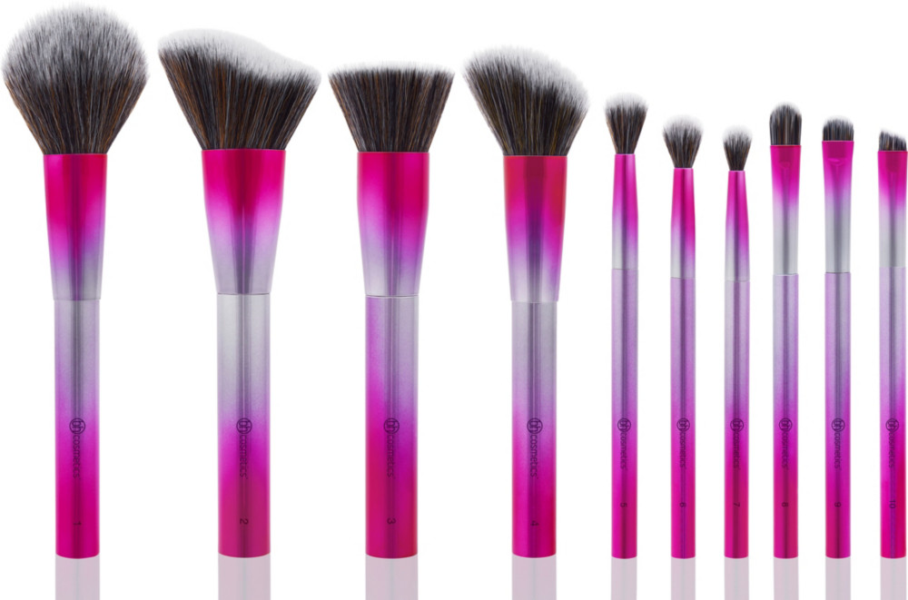 Royal Affair   10 Piece Metalized Brush Set by Bh Cosmetics