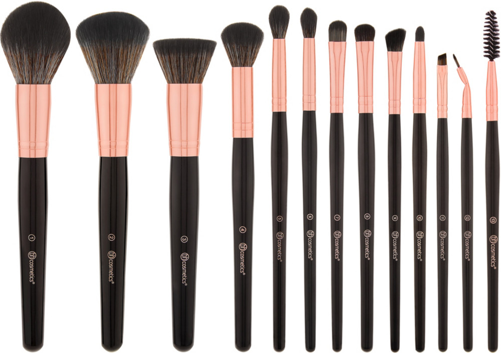 c6b7fa1ca9b7 BH Cosmetics BH Signature Rose Gold - 13 Piece Brush Set