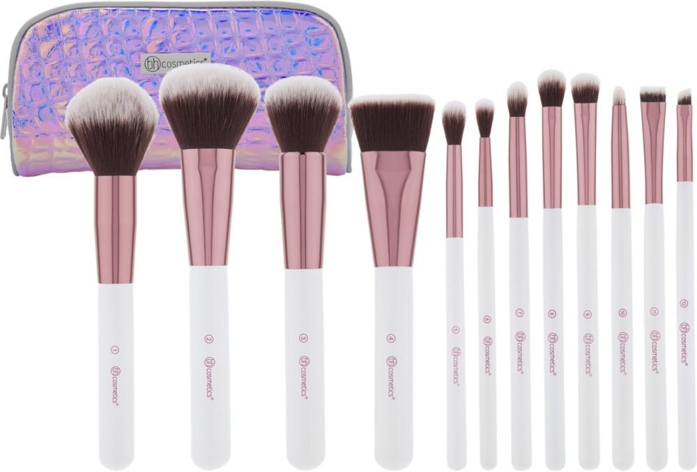 Image result for bh cosmetics crystal quartz 12 piece brush set