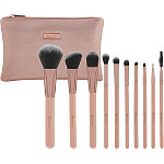 Online Only Pretty in Pink - 10 Piece Brush Set with Cosmetic Bag