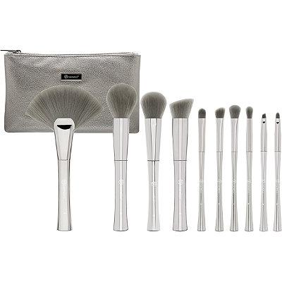 Smoke N Mirrors - 10 Pc Brush Set with Cosmetic Bag
