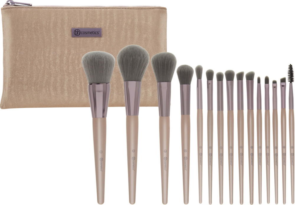Online Only Lavish Elegance   15 Pc Brush Set With Cosmetic Bag by Bh Cosmetics