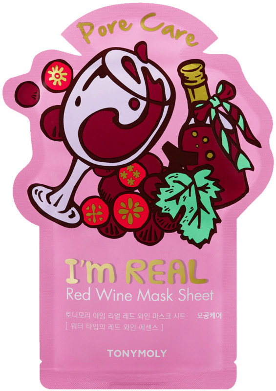 I'm Real Red Wine Sheet Mask by TONYMOLY #14