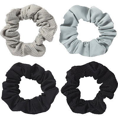 Mixed Textures Scrunchies 4 Pc
