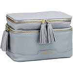 Tartan + Twine Elevated Gray Double Zip Cosmetic Box