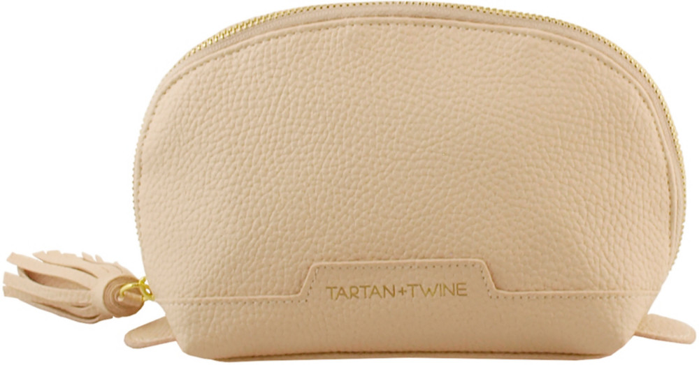 Elevated Nude Small Round Clutch by Tartan + Twine
